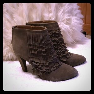 Banana Republic Fringe Ankle Booties